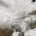 Satellite View Of A Severe Winter Storm by Stocktrek Images