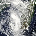 Satellite View Of Cyclone Giovanna by Stocktrek Images