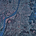 Satellite View Of Little Rock, Arkansas by Stocktrek Images