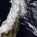 Satellite View Of Northeast Japan by Stocktrek Images