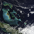 Satellite View Of The Bahama Islands by Stocktrek Images