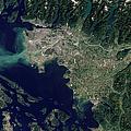 Satellite View Of The Frasier River by Stocktrek Images