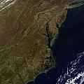 Satellite View Of The Mid-atlantic by Stocktrek Images