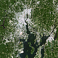 Satellite View Of The Pawtucket by Stocktrek Images