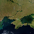 Satellite View Of The Ukraine Coast by Stocktrek Images