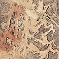 Satellite View Of Wadi Rum by Stocktrek Images