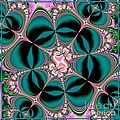 Satin Flowers And Butterflies Fractal 122 by Rose Santuci-Sofranko