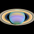 Saturn, Ultraviolet Hst Image by Nasaesastscie.karkoschka, U.arizona