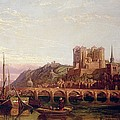 Saumur -  By The Loire Valley  by George Clarkson Stanfield