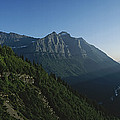 Scenic Overlook In Glacier National by Michael S. Lewis