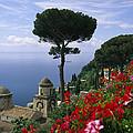 Scenic View Of Villa Rufolo Terrace by Richard Nowitz