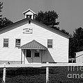 School House In Black And White by Yumi Johnson