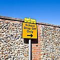 School Parking Sign by Tom Gowanlock