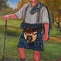 Scottish Golfer by Phyllis Barrett