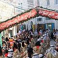 Scouts Marching During Christmas Parade In Bethlehem by Munir Alawi