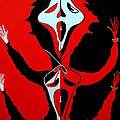 Scream In Black White And Red by Marie Schwarzer