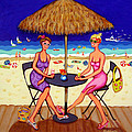 Sea For Two - Girlfriends At Beach by Rebecca Korpita