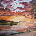 Sea Island Sunset by Albert Fendig