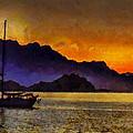 Sea Of Cortez Sunset In Baja by Russ Harris