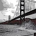 Sea Spray Under The Golden Gate Bridge by George Pedro