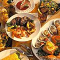 Seafood And Steak Buffet Dinners by Vance Fox