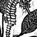 Seahorse Block Print by Ellen Miffitt