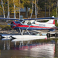 Seaplane On Moosehead Lake In Maine Canvas Photo Poster Print by Keith Webber Jr
