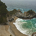Seascape And Waterfall At Julia Pfeiffer Burns State Park by Gregory Scott