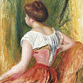 Seated Young Woman by Pierre Auguste Renoir