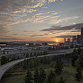 Seattle Arrival Sunset by Mike Reid