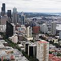 Seattle From The Needle by Lorraine Devon Wilke