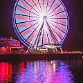 Seattle Great Wheel 2 by Mike Penney