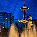 Seattle Rain Boy by Ken Stanback