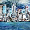 Seattle Skyline by Richard Jules