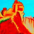 Sedona Hills - Fire At Sunset - Arizona by Marie Jamieson