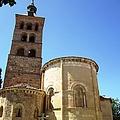 Segovia Historic Alcazar Bell Tower Brick Architecture In Spain by John Shiron