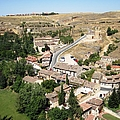 Segovia Panoramic View Of The City From Top Of The Castle In Spain by John Shiron