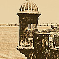 Sentry Tower Castillo San Felipe Del Morro Fortress San Juan Puerto Rico Rustic by Shawn O'Brien