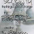 Serenity Prayer With Bells by Vicki Ferrari