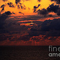 Setting Sun At South Beach by Pravine Chester