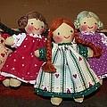 Seven Handmade Dolls by Jeanette Oberholtzer