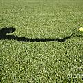 Shadow Playing Tennis by Mats Silvan