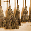 Shaker Brooms On A Wall by Mark Sellers