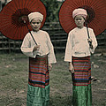 Shan Women Wearing Traditional Colorful by W. Robert Moore