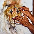 She Paints Him  by Martin Katon
