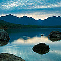 Sheep Clouds Above  A Lake  by U Schade