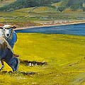 Sheep Painting by Mike Jory
