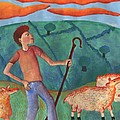Shepherd Boy Detail Of Red Sky At Night by Sushila Burgess