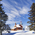 Sherwood Point Lighthouse And New Snow -  - D001650 by Daniel Dempster