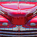 Shiny Red Ford Convertible. by Randy Harris